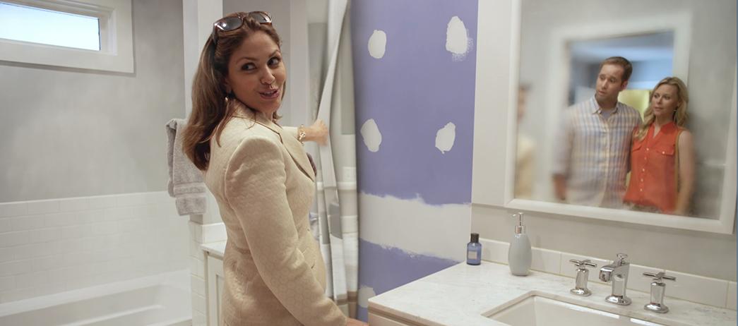 Purple Wall - Bathroom peel back VFX Shot