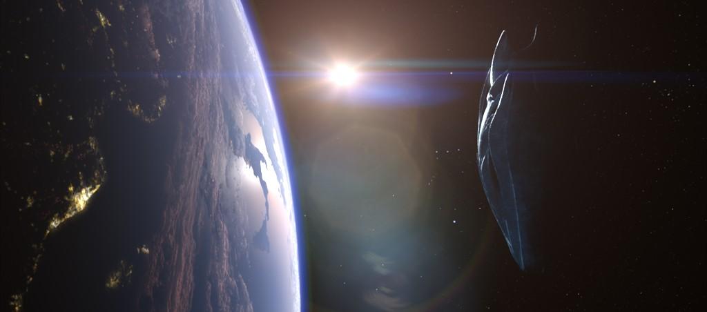 Black Knight Satellite over Earth